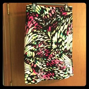 Bright butterfly wing print skirt